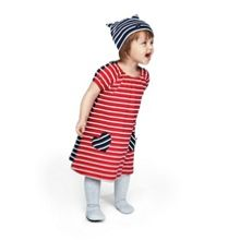 Baby girls po.p striped dress
