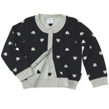 Baby girls heart cardigan