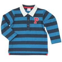 Baby boys striped rugby style polo top