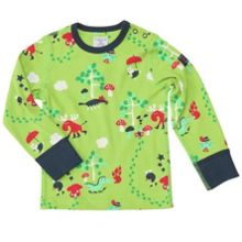 Babies colourful forest top