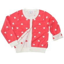 Girls heart cardigan