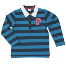 Boys striped rugby style polo top