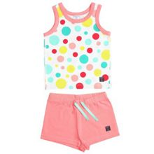 Kids polka dot vest pyjama set