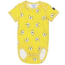 Babies cat print bodysuit