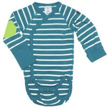Babies striped wraparound bodysuit