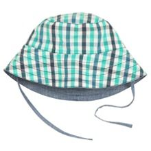Kids reversible checked sunhat