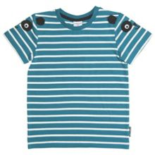 Kids striped appliqué t-shirt
