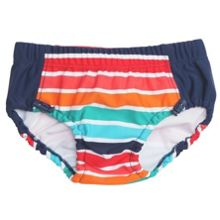 Polarn O. Pyret Baby boys striped swimming trunks