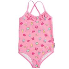 Girls deep sea print suimsuit