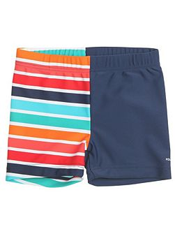 Baby boys colourful swimming trunks