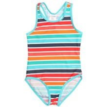 Girls swimsuit stripe