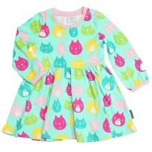 Baby girls cat print dress