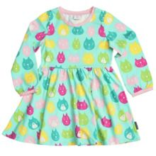 Girls cat print dress