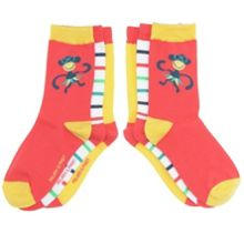 Kids 3 pack bright socks