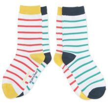 Kids 2 pack striped socks