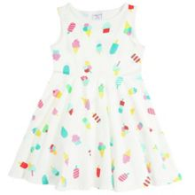 Girls ice cream print dress