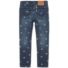 Girls Heart Print Jeans