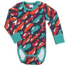 Babies Car Print Bodysuit