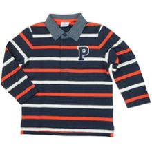 Baby Boys Striped Ruby Top