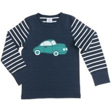 Boys Striped Appliqué Car Top
