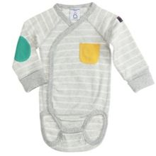 Polarn O. Pyret Babies Striped Wraparound Bodysuit