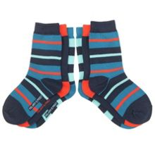 Kids Three Pack Striped Socks