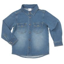 Boys Denim Style Stretch Shirt