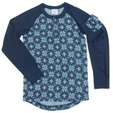 Kids Snowflake Merino Wool Top