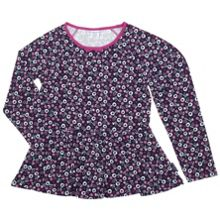Girls Floral Top Ruffle Hem Top