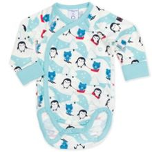 Babies Polar Animal Wrap Around Bodysuit