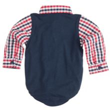 Babies Check Shirt Bodysuit