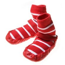 Polarn O. Pyret Babies Striped Moccasins