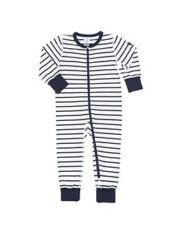 Baby Striped All-in-one Pyjamas