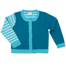 Polarn O. Pyret Babies Striped Cotton Cardigan