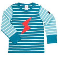Polarn O. Pyret Babies Striped Appliqué Top
