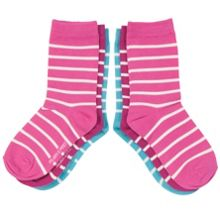 Kids 3 Pack Striped Socks