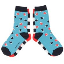 Kids 2 Pack Heart Socks