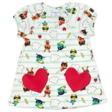 Polarn O. Pyret Baby Girls Heart Pocket Dress