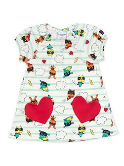 Baby Girls Heart Pocket Dress