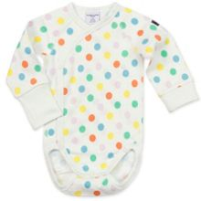 Polarn O. Pyret Babies Polka Dot Wrap Around Bodysuit