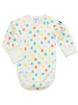 Babies Polka Dot Wrap Around Bodysuit