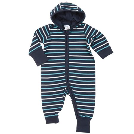Polarn O. Pyret Babies Striped All-in-one