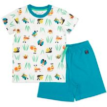 Polarn O. Pyret Kids Garden Print Short Sleeved Pyjamas