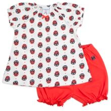Polarn O. Pyret Babies Ladybird Dress and Shorts Set