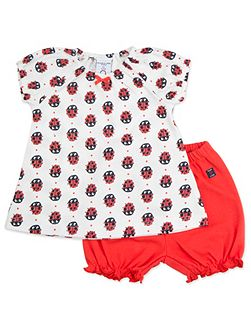 Babies Ladybird Dress and Shorts Set