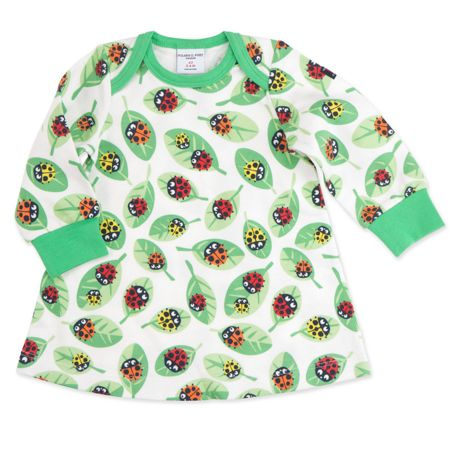 Polarn O. Pyret Baby Girls Ladybird Print Dress