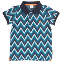Polarn O. Pyret Boys Zigzag Polo Shirt
