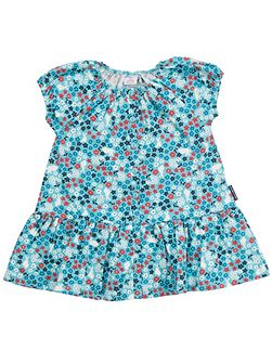Baby Girls Flowers and Bunnies Dress