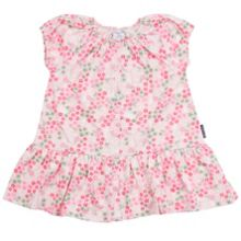 Polarn O. Pyret Baby Girls Flowers and Bunnies Dress