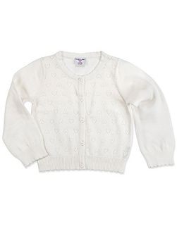 Girls Pointelle Cardigan